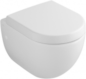 Villeroy & Boch Subway - Wall-mounted washdown toilet Compact without DirectFlush pergamon with CeramicPlus