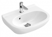 Villeroy & Boch O.novo - Hand-rinse basin Compact 500x400mm with 1 tap hole with overflow white with CeramicPlus