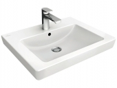 Villeroy & Boch Subway 2.0 - Washbasin for Furniture 600x470mm with 1 tap hole with overflow white with CeramicPlus