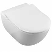 Villeroy & Boch Subway - Wall-mounted washdown toilet without DirectFlush white with CeramicPlus