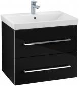 Villeroy & Boch Avento - Waschtischunterschrank 618 x 520 x 447 mm crystal black