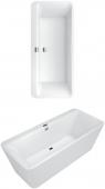Villeroy & Boch Squaro - Excellence Duo Badewanne 180 x 80 cm freistehend mit Wasserzulauf weiß