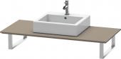Duravit x-Large - Konsole für Aufsatzbecken und Einbauwaschtische 550 x 600 mm flannel grey