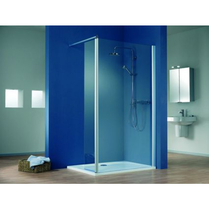 HSK Walk In Easy 1 - Walk clear light in Easy 1 front element 1000 x 2000 mm, 01 aluminum silver matt, 50 ESG