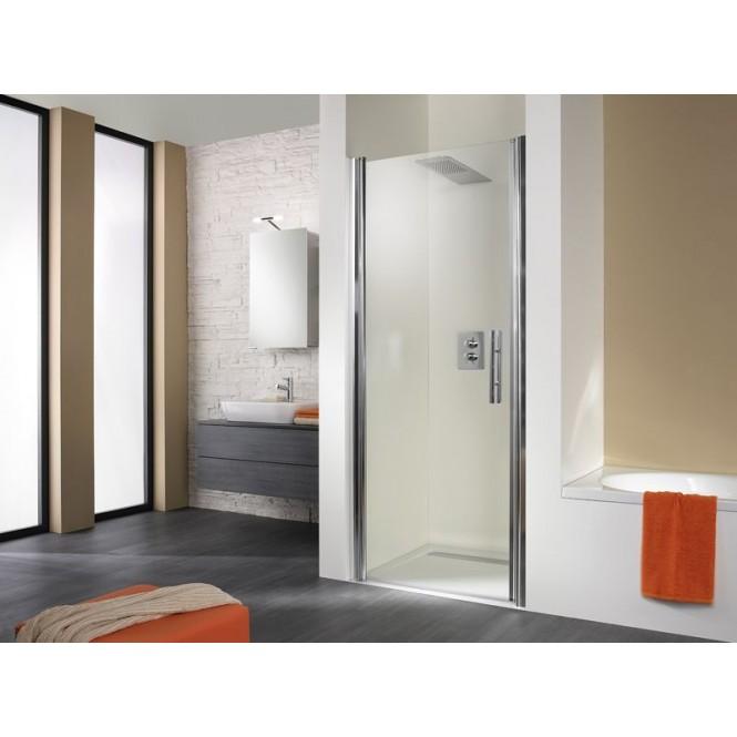 HSK - Revolving door niche, 01 custom-made aluminum silver matt, 50 ESG clear bright