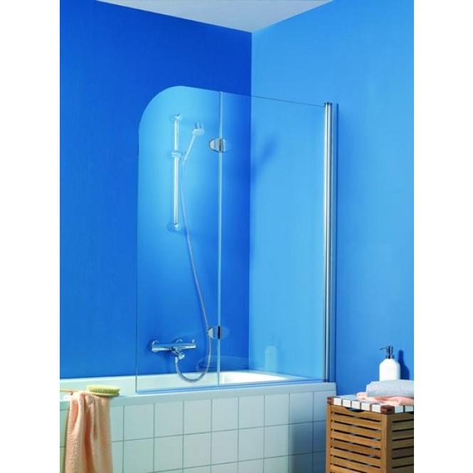 HSK Exklusiv - Badewannenfaltwand, Exclusive, 95 standard colors custom-made, 54 Chinchilla