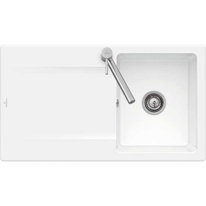 Villeroy Boch Siluet 50 Kitchen Sink With Overflow 900 White Xtwostore