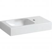 Geberit iCon xs - Waschtisch 530 x 310 mm mit Hahnloch rechts ohne Überlauf weiß
