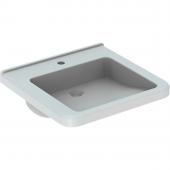 Geberit Renova Nr. 1 Comfort - Waschtisch unterfahrbar 550 x 525 mm mit Hahnloch ohne Überlauf weiß