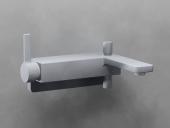 Dornbracht LULU - Wannen-Einhandbatterie für Wandmontage platin matt