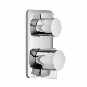 Dornbracht Lissé - Unterputz-Thermostat mit 1-Weg-Mengenregulierung platin matt