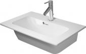 Duravit ME by Starck - Möbelwaschtisch compact 630 mm mit Überlauf mit Hahnlochbank 1 Hahnloch weiß