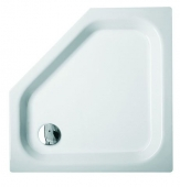Bette BetteCaro ohne Schürze - 5 Corner shower tray BetteGlaze Plus & antiskid Manhattan - 100 x 100