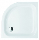 Bette BetteCorner ohne Schürze - Quarter-circle shower tray BetteGlaze Plus & antiskid manhattan - 80 x 80