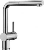 Blanco Linus-S - Küchenarmatur metallische Oberfläche Hochdruck Edelstahl gebürstet