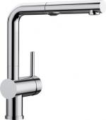 Blanco Linus-S - Küchenarmatur Vario metallische Oberfläche Hochdruck chrom
