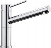 Blanco Alta-F Compact - Küchenarmatur metallische Oberfläche Hochdruck chrom