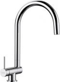 Blanco Coressa-F - Küchenarmatur metallische Oberfläche Hochdruck Hebel links chrom