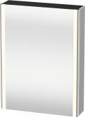 Duravit XSquare - SPS mit Beleuchtung 800x600x155 betongrau matt Türanschlag rechts