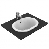 Ideal Standard Connect - Drop-in washbasin for Console 480x350mm without tap holes with overflow white with IdealPlus