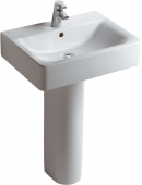 Ideal Standard Connect - Washbasin for Furniture 600x460mm with 1 tap hole with overflow white with IdealPlus