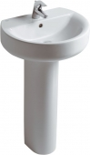 Ideal Standard Connect - Washbasin 550x455mm with 1 tap hole with overflow white without IdealPlus