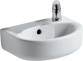 Ideal Standard Connect - Hand-rinse basin 350x260mm with 1 tap hole on right side with overflow white with IdealPlus