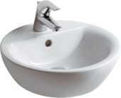 Ideal Standard Connect - Countertop Washbasin for Console 430x430mm with 1 tap hole with overflow white with IdealPlus