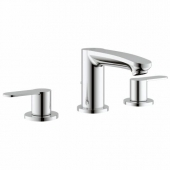 GROHE Eurostyle Cosmopolitan - 3-Hole Basin Taps S-Size without waste set chrome