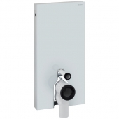 Geberit Monolith - Sanitärmodul für Stand-WC 1010 mm Glas weiß