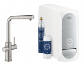 Grohe Blue Home - Starter Kit Mousseur Bluetooth/WIFI L-Auslauf supersteel 1