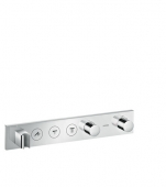 Hansgrohe Axor - Thermostatmodul Unterputz Select Fertigset 3 Verbraucher chrom