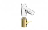 Hansgrohe Axor Starck V - Waschtischmischer 140 mit Glasauslauf-Facettenschliff polished brass