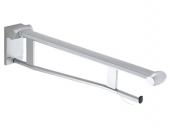 Keuco Plan care - Folding grab rail silver anodized / black gray