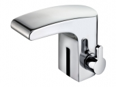 Keuco Elegance - Infrared electronic tap mains powered XS-Size with pop-up waste set chrome