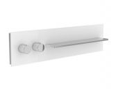 Keuco meTime_spa - Concealed thermostatic bathtub / shower mixer for 2 outlets clear truffle / chrome
