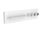 Keuco meTime_spa - Concealed thermostatic bathtub / shower mixer for 3 outlets clear petrol / chrome