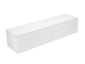 Keuco Edition 400 - Sideboard 31773 4 Auszüge weiß / Glas weiß klar