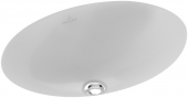 Villeroy & Boch Loop & Friends - Undercounter washbasin 385x255 star white with CeramicPlus