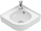 Villeroy & Boch O.novo - Eck-Handwaschbecken 320 mm mit Überlauf weiß alpinC+