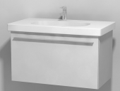 Duravit X-Large - Waschtischunterbau wandhängend Weiß Hochglanz Lack 800mm
