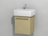 Duravit X-Large - Vanity unit wall-mounted Cappuccino high gloss lacquer 400mm