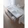 Duravit x-Large - Waschtischunterbau weiß hochglanz dekor 1200 mm