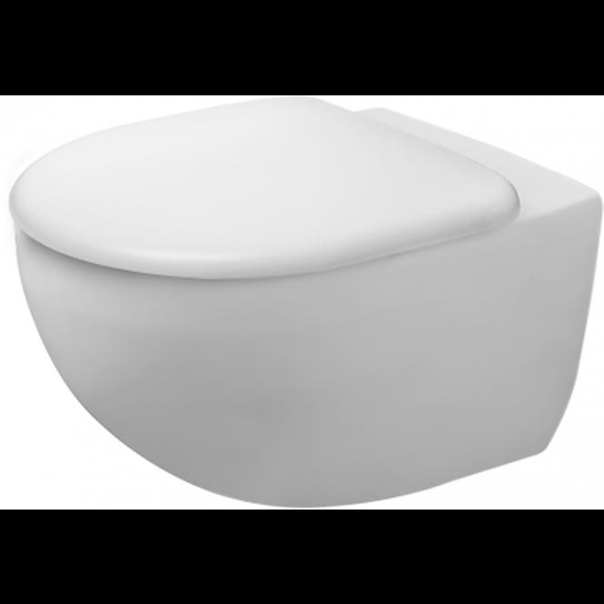 Duravit Architec - Wand-Tiefspül-WC 575 mm rimless inklusive Durafix weiß mit HygieneGlaze