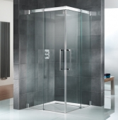 HSK K2P - Sliding door corner entry, K2P, 50 ESG clear bright 900/900 x 2000 mm, 41 chrome look