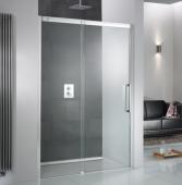 HSK K2P - Sliding door 2-piece, K2P, 50 ESG clear bright 1600 x 2000 mm, 41 chrome look