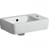 Geberit Renova Nr. 1 Comprimo - Handwaschbecken 500 x 250 mm mit Hahnloch rechts mit Überlauf weiß