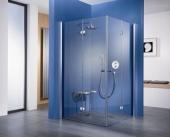 HSK - Corner entry with folding hinged door, 01 Alu silver matt 1200/1200 x 1850 mm, 100 Glasses art center