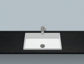 Alape EB.ME 500 - Einbaubecken 500 x 375 mm ohne Hahnloch und ohne Überlauf weiß