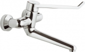 Ideal Standard CeraPlus Sicherheitsarmaturen - Wall-mounted basin safety fitting (spout 200 mm lockable S-unions operating lever 230 mm)